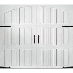 Amarr Hillcrest 1000 White Panel Garage Door Multiple Options Sam S Club In 2020 Garage Doors Garage Door Design Carriage House Garage Doors