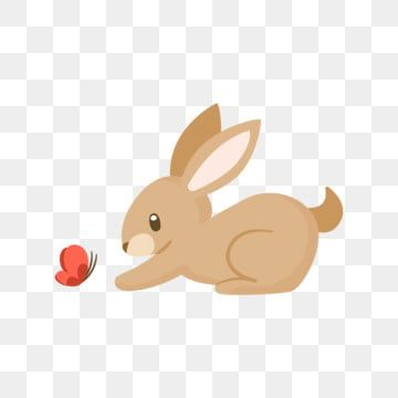 Cute Bunny Playing With A Butterfly Bunny Clipart Animal Cute Png And Vector With Transparent Background For Free Download In 2021 Cartoon Butterfly Rabbit Illustration Butterflies Vector