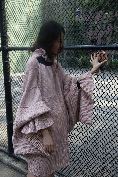 Italian designerDiletta Cancellato is doing all kinds of crazy goodthings with knitwear. Growing up alongside her tailor grandfather,Diletta learned every detail of quality clothing construction first hand. Shecontinued her education in Milan but it wasn't until she completed her MFA at