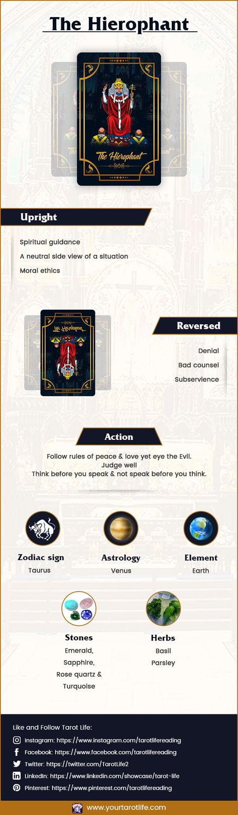 Hierophant Tarot card gives you the much-needed advice when you need it the most. Do you want to explore more? Read on further! #hierophant , #thehierophant , #tarotcards , #hierophantreversed , #hierophantupright , #tarotcardsmeaning , #majorarcana, #education