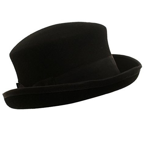 218f2f4ae83b91 Amazon.com: Men's Winter Wool 1800s Coachman Boater Porkpie Derby Fedora Hat  S/M: Clothing
