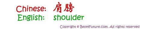"Chinese characters for ""shoulder"""