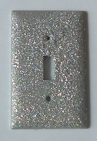 Glitter light switch plate!