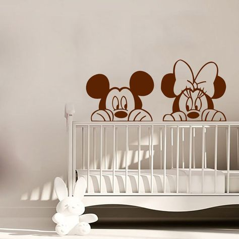 Minnie Mouse Wall Decal Mickey Mouse Vinyl Sticker Playroom Nursery Decor  KI118 | Home U0026 Garden, Home Décor, Decals, Stickers U0026 Vinyl Art | EBay!