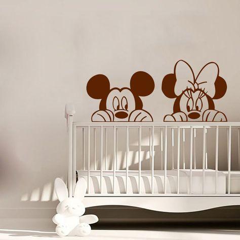 Minnie Mouse Wall Decal Mickey Mouse Vinyl Sticker Playroom Nursery Decor  KI118 | Home U0026 Garden, Home Décor, Decals, Stickers U0026 Vinyl Art | EBay!