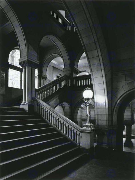 BLACK WHITE PHOTOGRAPHY ARCHITECTURAL ALLEGHENY COURT FINE ART ABB6344B
