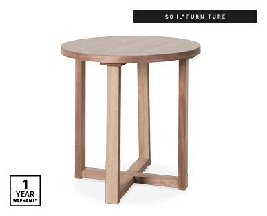 Alpha Round Side Table Oak Aldi Australia With Images Side Table Round Side Table Table