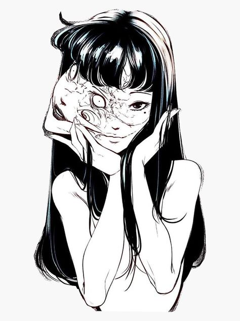 'Tomie ' Sticker by electraheartxx Mädchen Tattoo, Manga Tattoo, Anime Tattoos, Junji Ito, Japanese Horror, Japanese Art, Aesthetic Art, Aesthetic Anime, Anime Art Girl