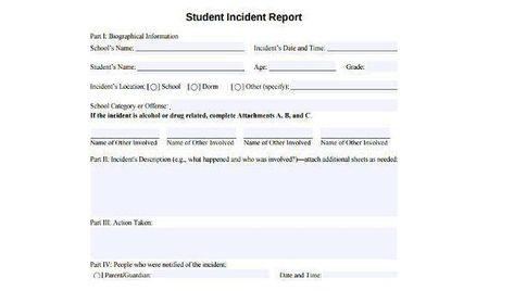 School Incident Report Template 8 Templates Example Templates Example Incident Report Report Template Templates