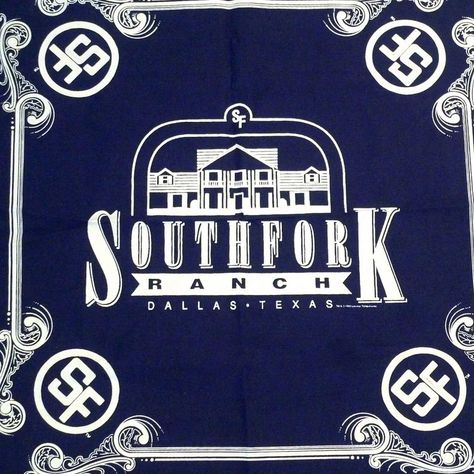 Southfork Ranch Bandana 1992 Vintage Dallas TV Show Scarf   Etsy