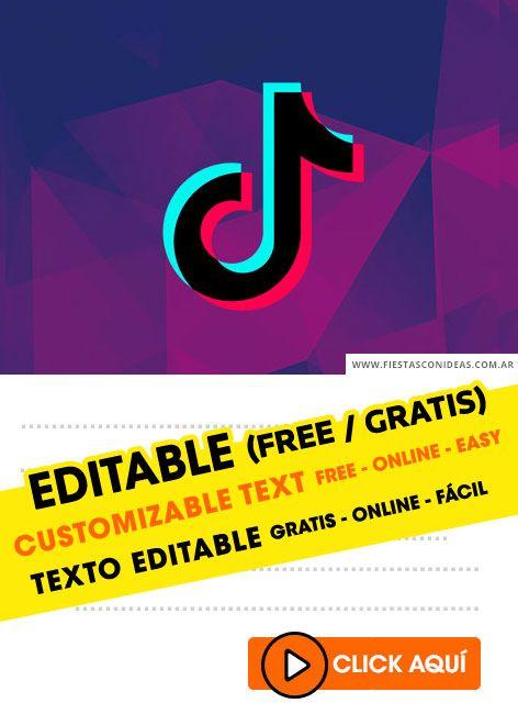 9 Tik Tok Birthday Invitations Free Online Editable And Printables Custo Editable Birthday Cards Free Birthday Invitation Templates Birthday Invitations
