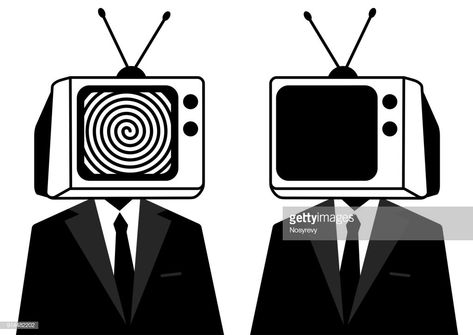 View this People Instead Of Head Tv Silhouette Man Zombie Mass Media stock photo.