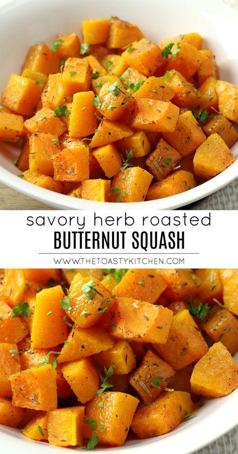 Savory Herb Roasted Butternut Squash