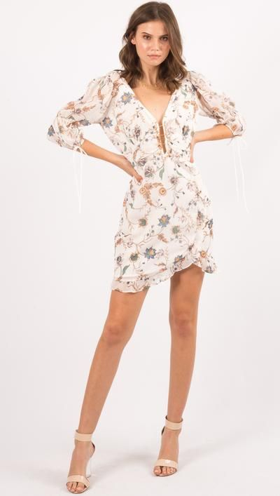 Elyse Flirty Mini Dress By For Love And Lemons Mini Dress Dresses Fashion