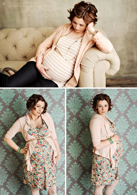 studio maternity session  ♥ the couch shot