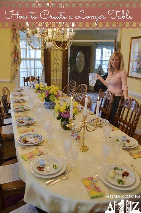 How to Extend a Table for family gatherings. Great tip!