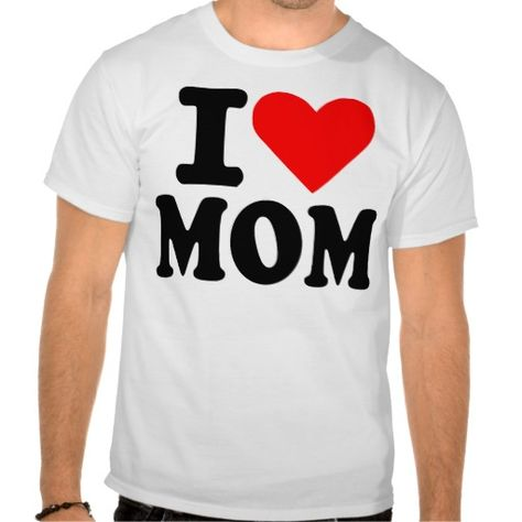 I Love My Son T-Shirt Heart Mother/'s Day