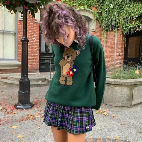 Indie Outfits, Preppy Outfits, Cute Casual Outfits, Preppy Style, Winter Outfits, Fashion Outfits, Womens Fashion, Indie Clothes, Funky Outfits