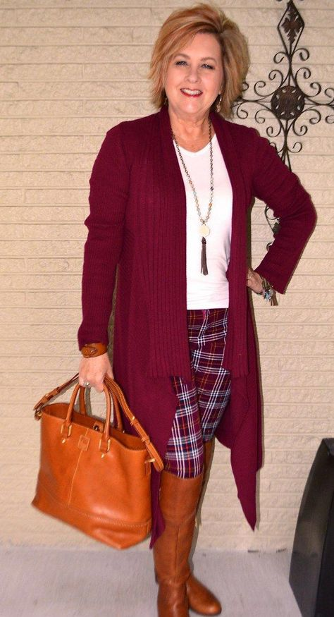 50 IS NOT OLD | DOES YOUR SHOES AND PURSE MATCH | Plaid for Fall | Over The Knee Boot | Fashion over 40 for the everyday woman #pixiepants #fashionover40 #everydaywoman #fashionforwomenover40boho