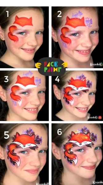 Autumn fox by kristin olsson bay area face painters festival tribal adult face painting Face Painting Tips, Adult Face Painting, Face Painting Tutorials, Belly Painting, Easy Face Painting Designs, Tole Painting, Fox Face Paint, Art Halloween, Face Paint For Halloween