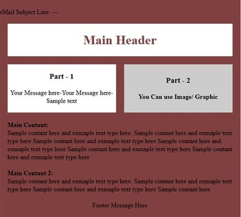 Email Html Format And Sample Email Html Email Newsletter Is The
