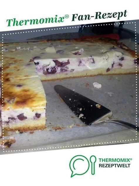 Quark Kirsch Blechkuchen Rezept Blechkuchen Kaffee Und Kuchen Kirschkuchen Thermomix