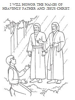 I Will Honor The Names Of Heavenly Father Jesus Christ Coloring Sheet Lds Coloring Pages Coloring Pages Lds Kids
