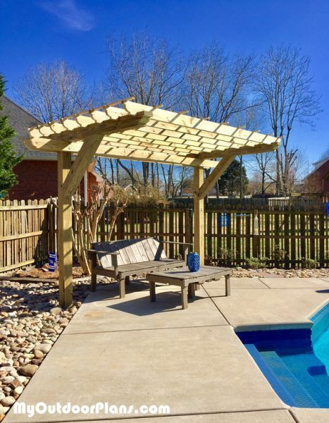 Diy 2 Post Pergola Myoutdoorplans Free Woodworking Plans And Projects Diy Shed Wooden Playhouse Pergola Bbq Pergola Building A Pergola Outdoor Pergola