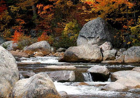 New Hampshire - June 9. The Kancamagus Scenic Byway has hundreds of miles of hiking trails, popular in the fall. Visit www.discoveramerica.com for more places to visit in the USA.