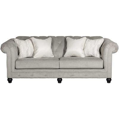 Show Details For Tiarella Silver Tufted Sofa Ashley Furniture
