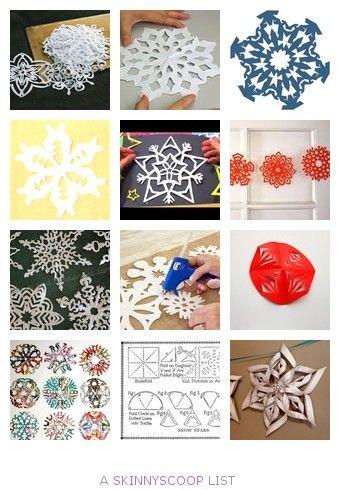 Best Paper Snowflake Tutorials | Winter | Pinterest | Hojas de color ...