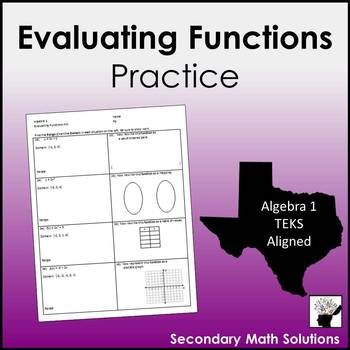 Finding Range Given Domain Plus Multiple Representations Of Functions A12b Maths Solutions Free Math Resources Teaching Algebra