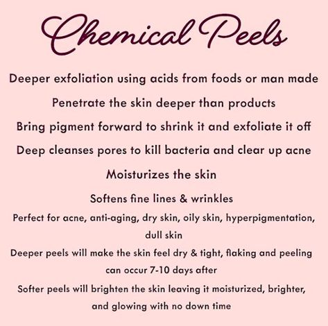 What Can A Chemical Peel Do For YOU?