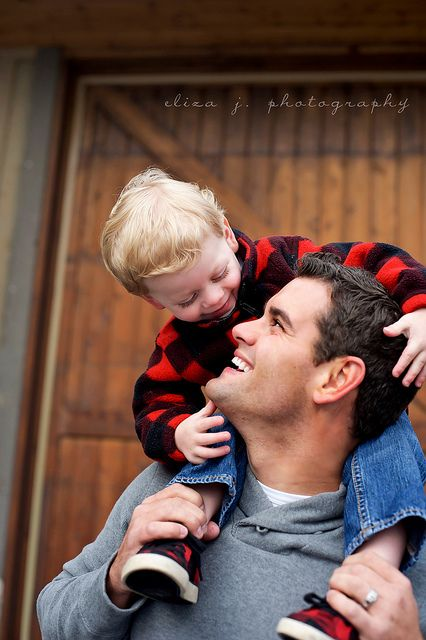 Ryan Family Photo Ideas -Love the father/son moment caught on camera