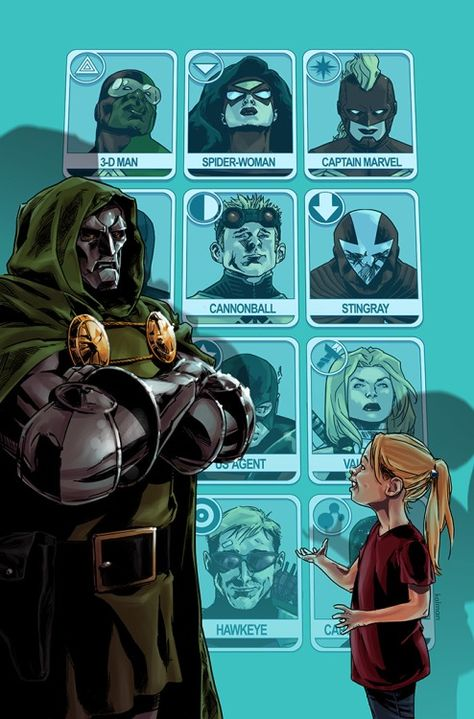 Avengers World #15 featuring Valeria and Doom discussing who will be on their brand-spanking new Avengers team - Iam Kalman