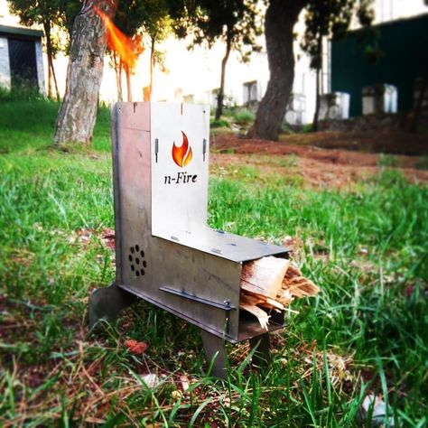 Portable Quality Wood Burner Collapsible Camp /& Tent Stove n-Fire Rocket Stove