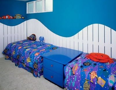 I like the idea of the beds like this for the boys