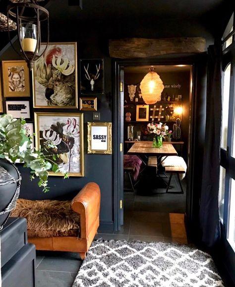 Eclectic, Dark  Glamorous Home Tour - Sally Worts