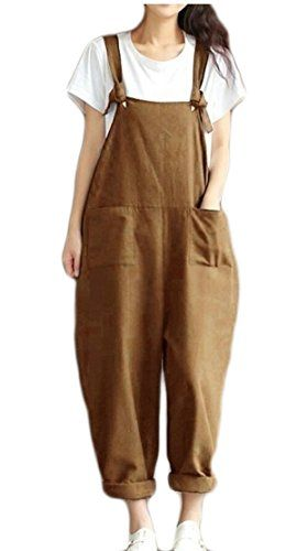 WSPLYSPJY Women Casual Wide Leg Pants Sleeveless Rompers Jumpsuit Vintage Overalls