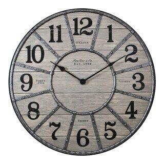 Firstime Cooper Wall Clock Kohls In 2020 Wall Clock Farmhouse Wall Clocks Clock