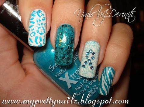 My Pretty Nailz Pcos And Ovarian Cancer Awareness Nail Art Design Video Tutorial
