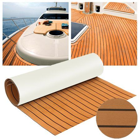 12 Colors Marine Yacht Boat Rv Flooring Sheet Decking Teak Eva Foam Self Adhesive Mat 94 X35 91 X35 6mm Thickness Walmart Com Marine Flooring Yacht Flooring Teak