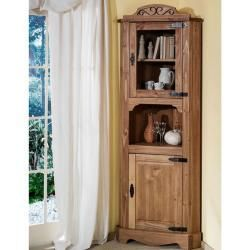 Henke Corner Showcase Mexican Pine Antique Waxed Handle Black Pine Fittings From Matall Henke Antiq In 2020 Display Cabinet Wall Mounted Display Cabinets Union Rustic