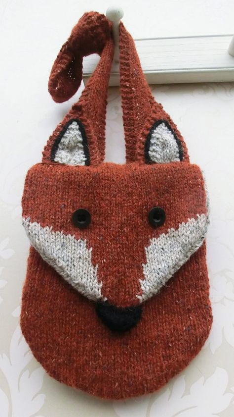 Fox Carry All Quilted Knitting Bag Quilted Hand Bag Tote Bag Knitting Shoulder Bag Sewnsewsister Fox Diaper Bag Craft Tote Bag