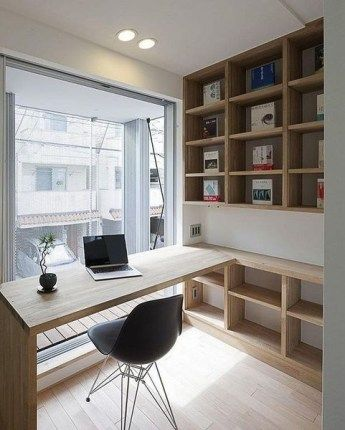 30 Simple But Cozy Workspace Office Design Ideas Home Office Design Modern Home Office Contemporary Home Office