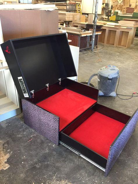 Awesome Custom Giant Jordan Flight Shoe Storage Box With By SoleShoeBoxes
