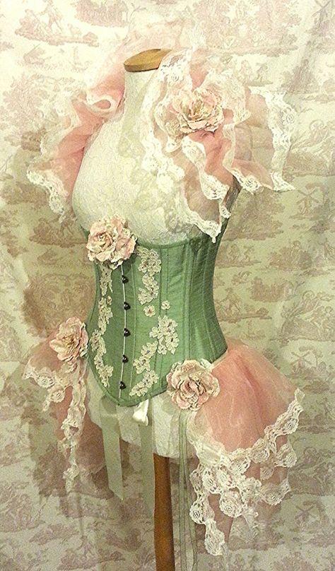 24 Waist Burlesque Steampunk  Underbust Corset by OpheliasFolly