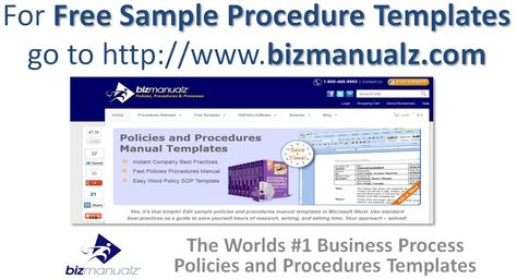 Free Sample Procedure Templates Business Processes Pinterest - procedure manual template for word