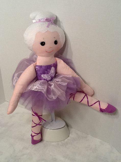 Bella Ballerina PDF Cloth Doll Pattern Great by PeekabooPorch, $9.00