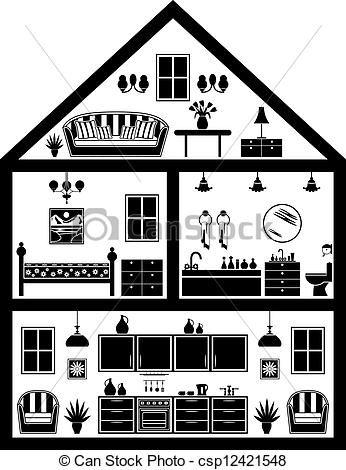house clipart black and white. inside house clip art lds printable pinterest illustration and dollhouses clipart black white